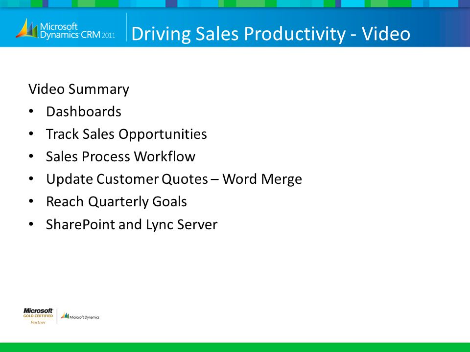 Driving Sales Productivity - Video