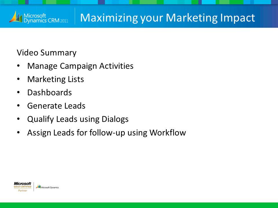 Maximizing your Marketing Impact