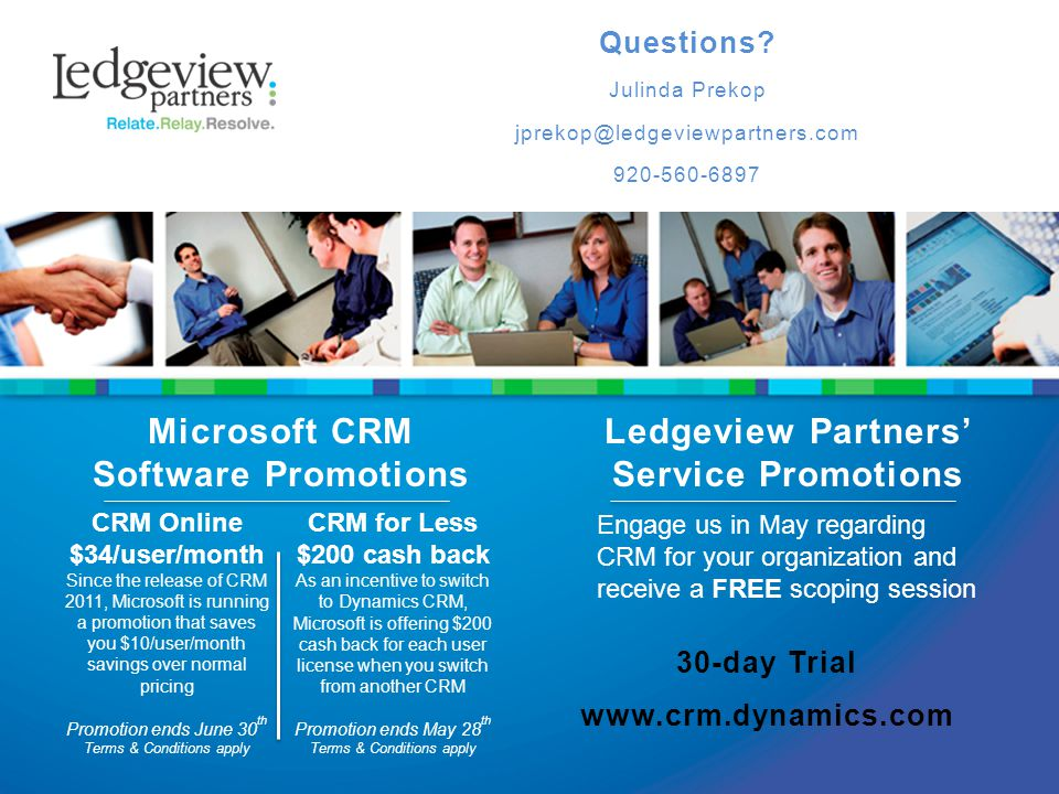 Microsoft CRM Software Promotions