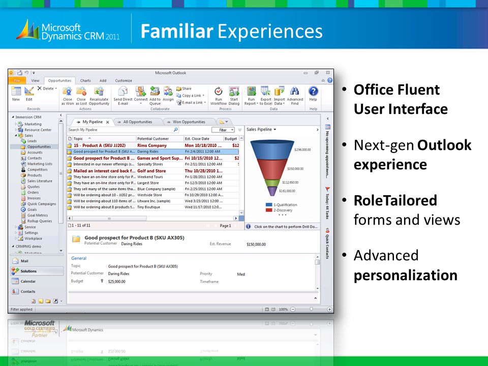 Familiar Experiences Office Fluent User Interface