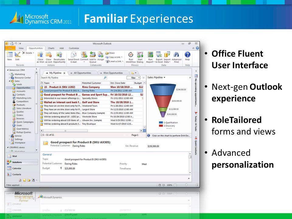 Familiar Experiences Office Fluent User Interface
