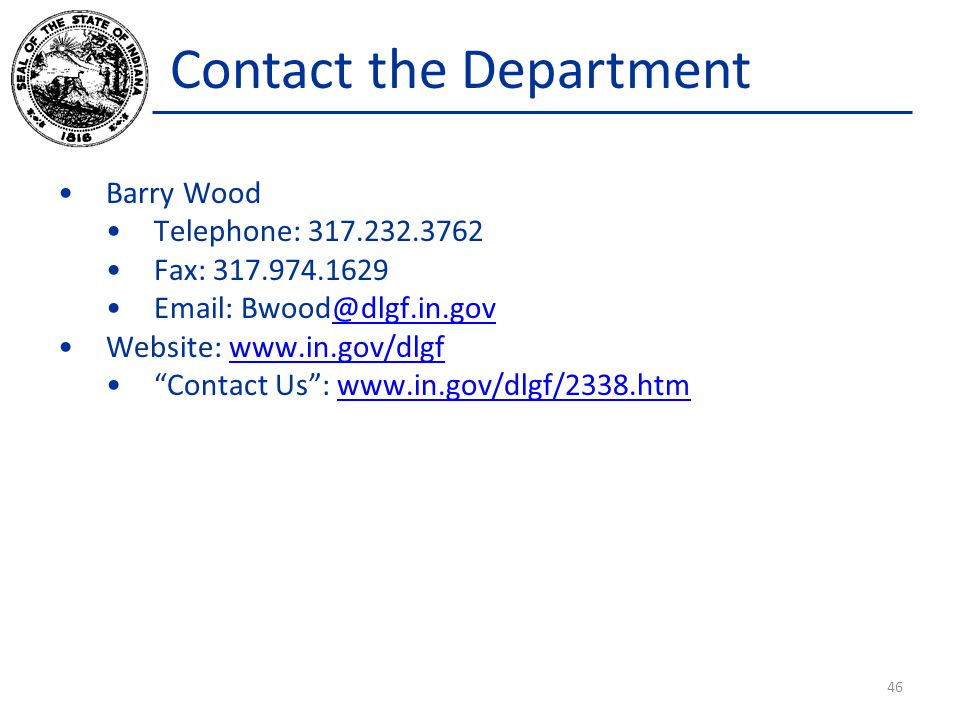 Contact the Department