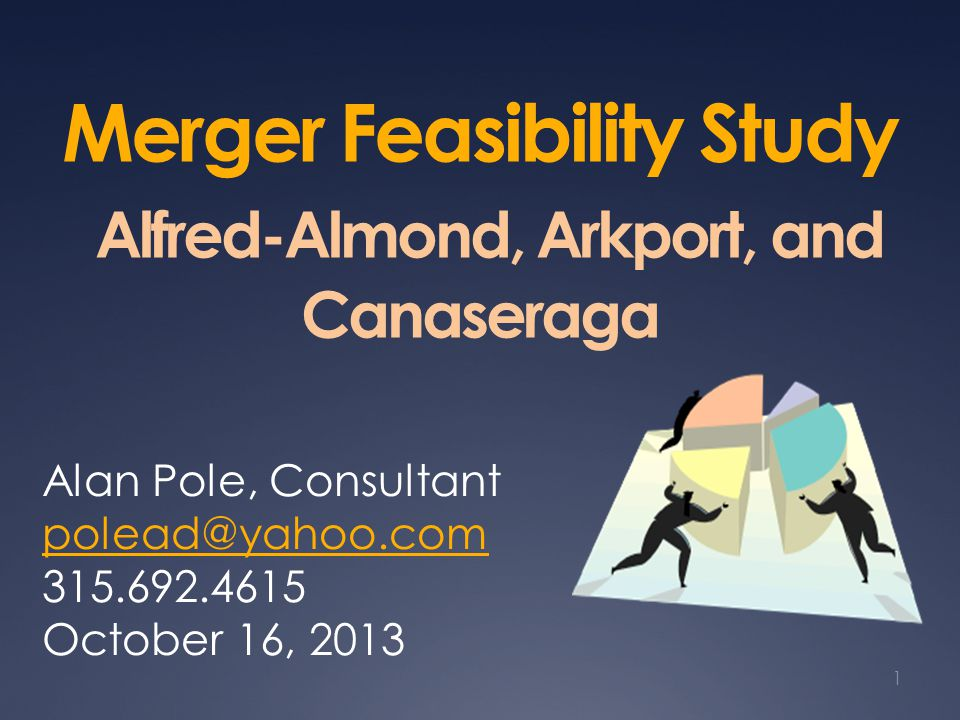Merger Feasibility Study Alfred-Almond, Arkport, and Canaseraga