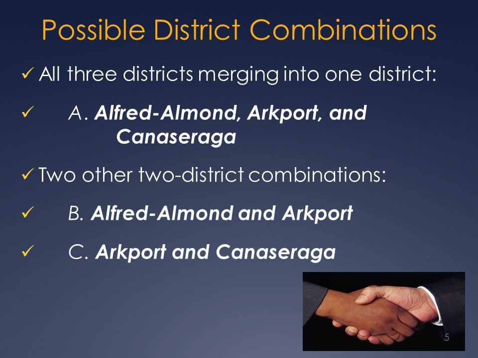 Possible District Combinations
