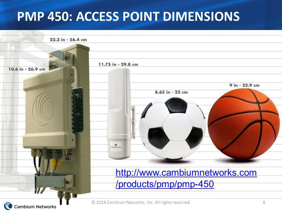 PMP 450: Access Point Dimensions