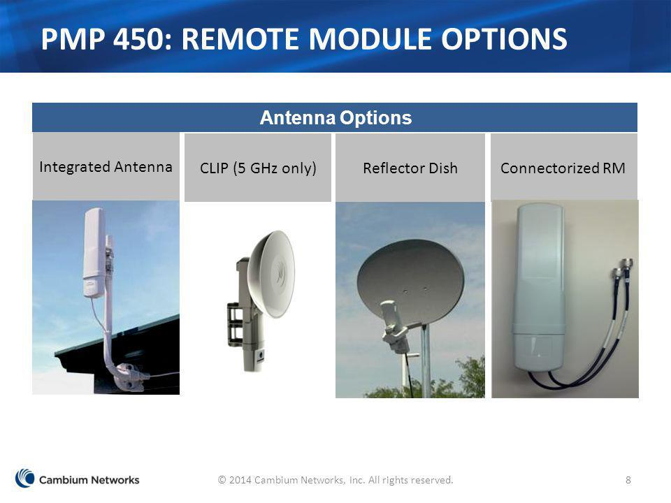 PMP 450: remote Module Options