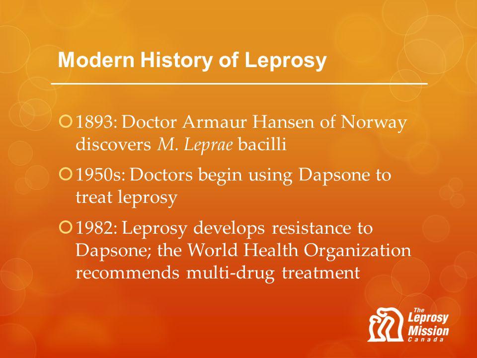 Modern History of Leprosy