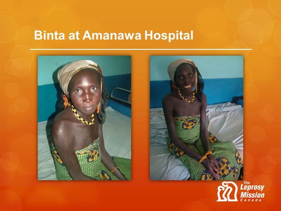 Binta at Amanawa Hospital