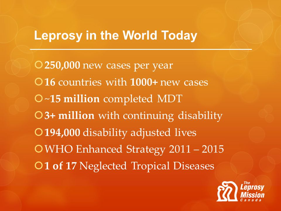 Leprosy in the World Today
