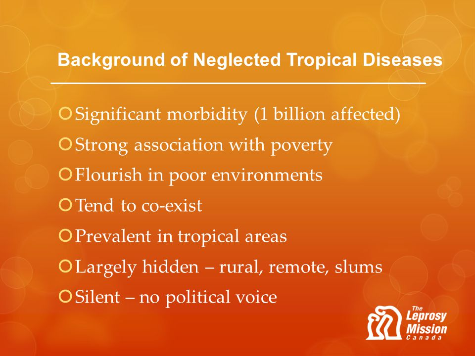Background of Neglected Tropical Diseases