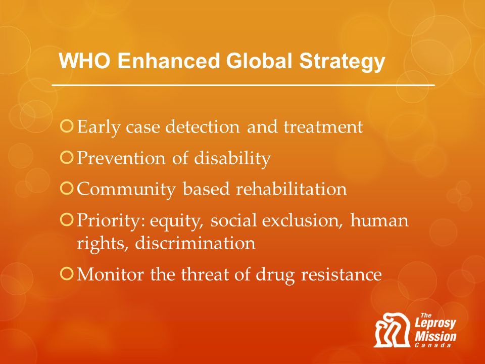 WHO Enhanced Global Strategy