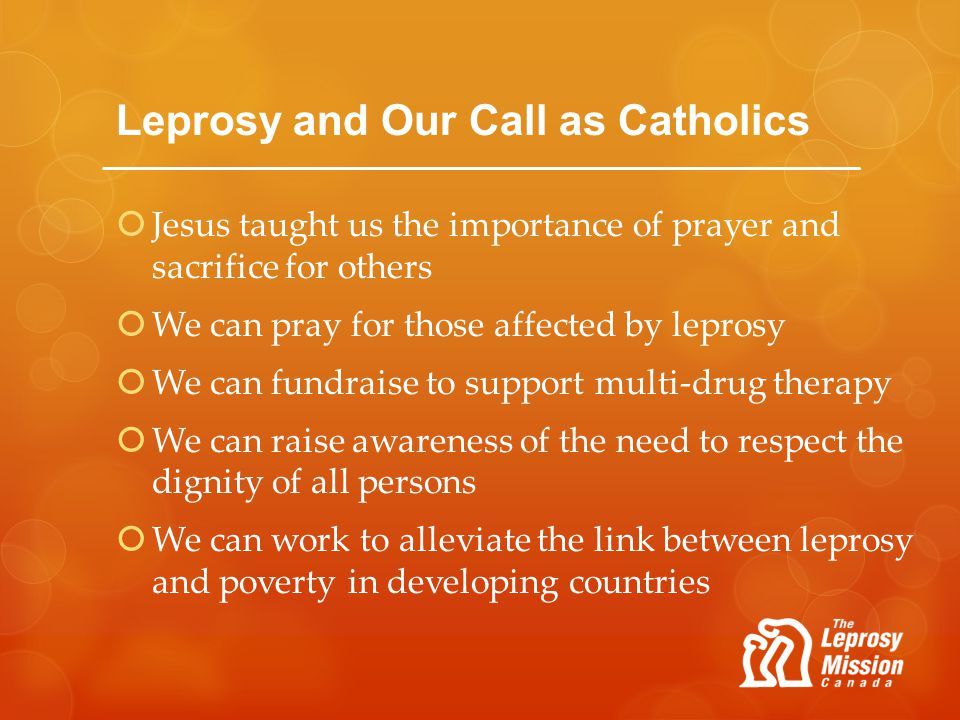 Leprosy and Our Call as Catholics