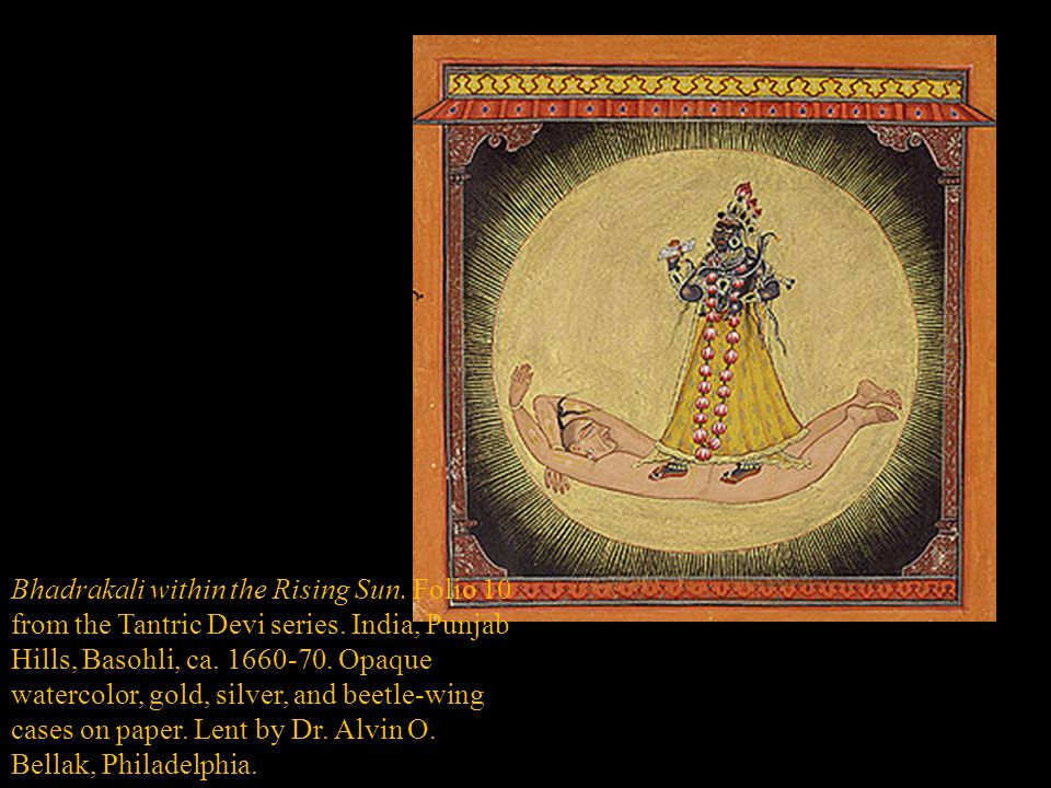 Bhadrakali within the Rising Sun. Folio 10 from the Tantric Devi series.