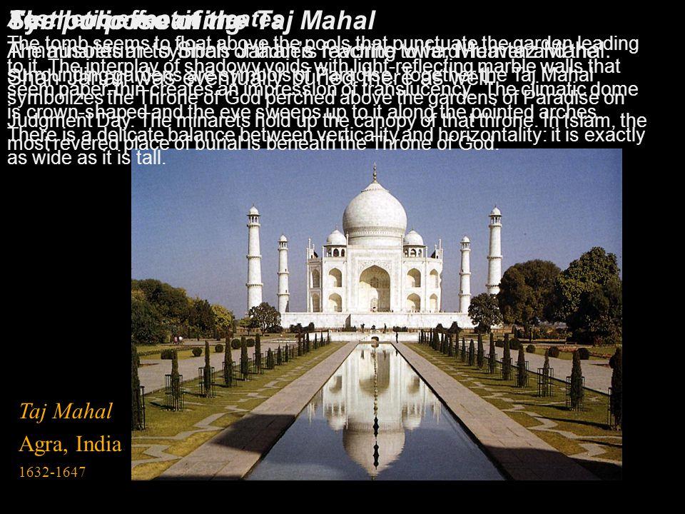 The purpose of the Taj Mahal
