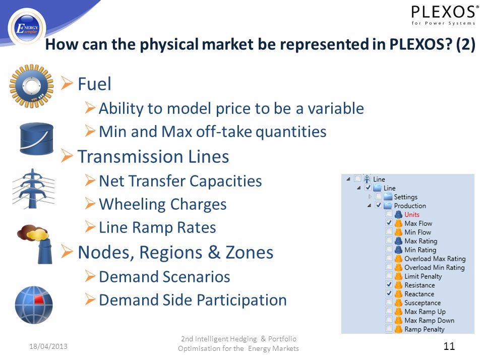 How can the physical market be represented in PLEXOS (2)