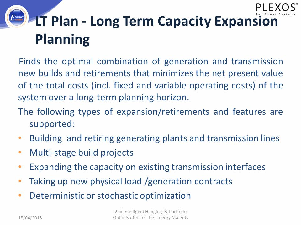 LT Plan - Long Term Capacity Expansion Planning