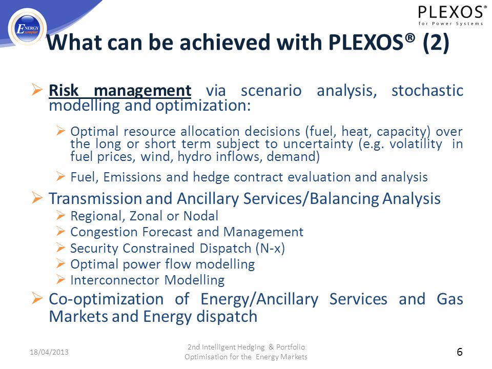 What can be achieved with PLEXOS® (2)