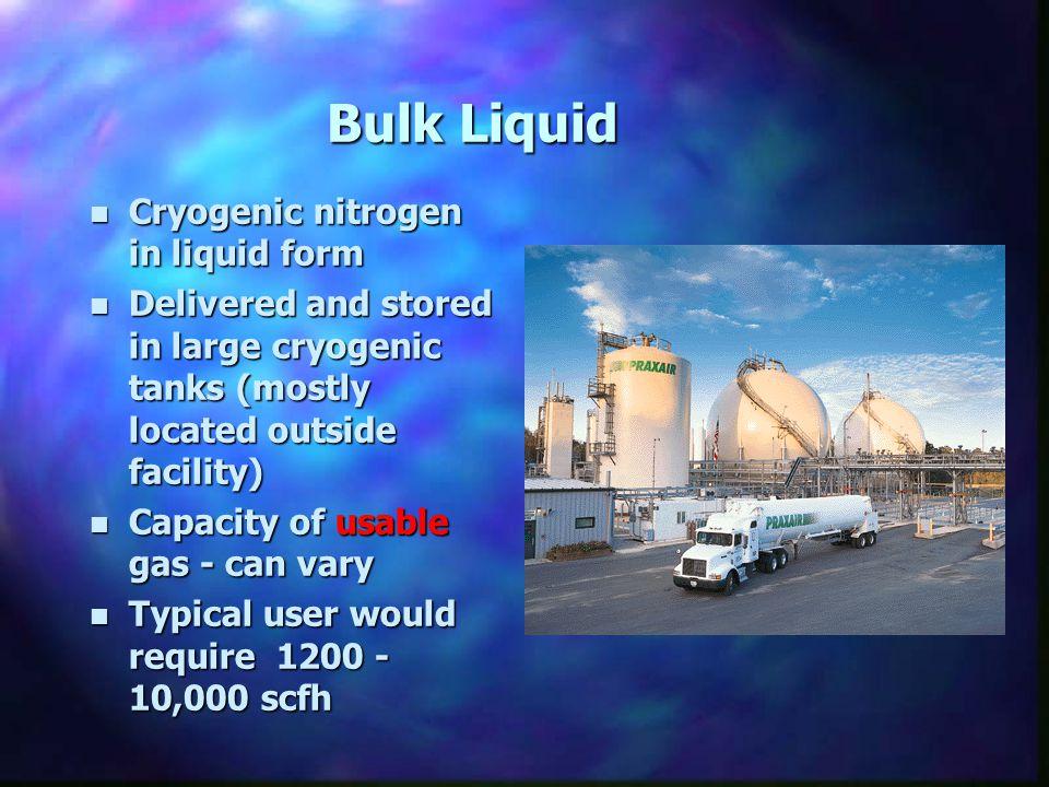 Bulk Liquid Cryogenic nitrogen in liquid form