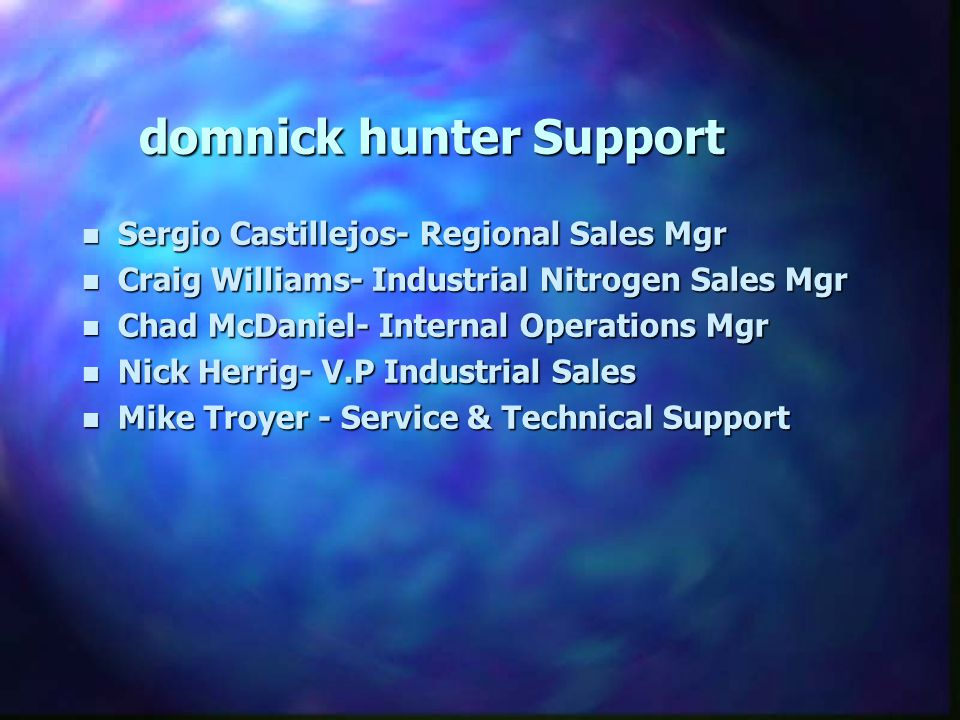 domnick hunter Support