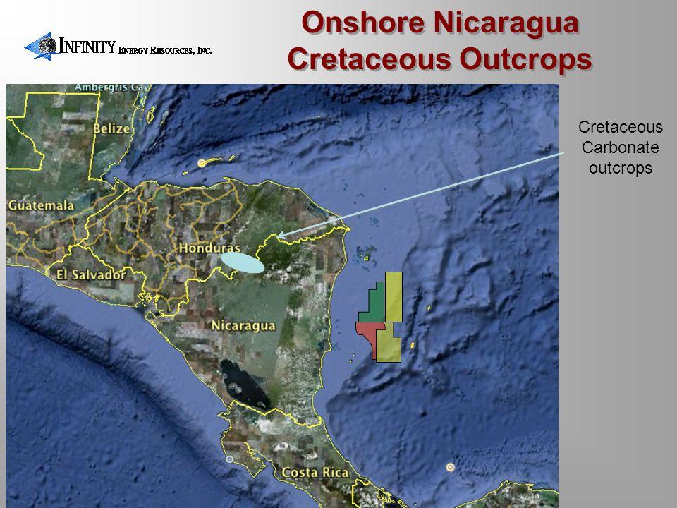 Onshore Nicaragua Cretaceous Outcrops