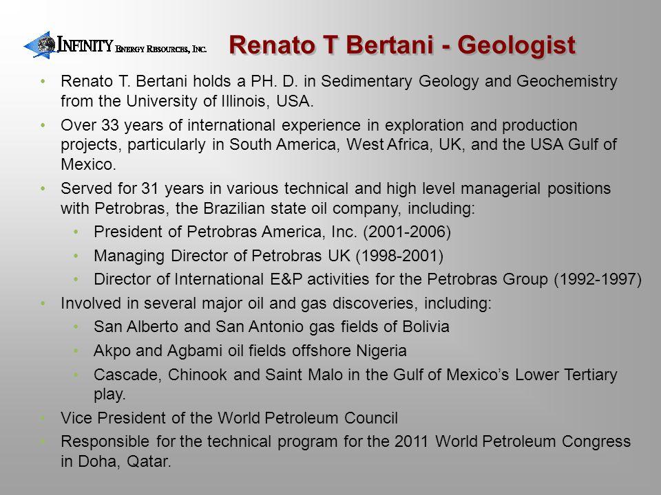 Renato T Bertani - Geologist