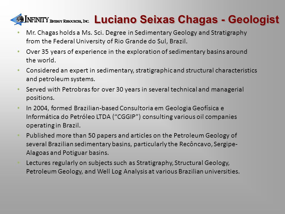 Luciano Seixas Chagas - Geologist