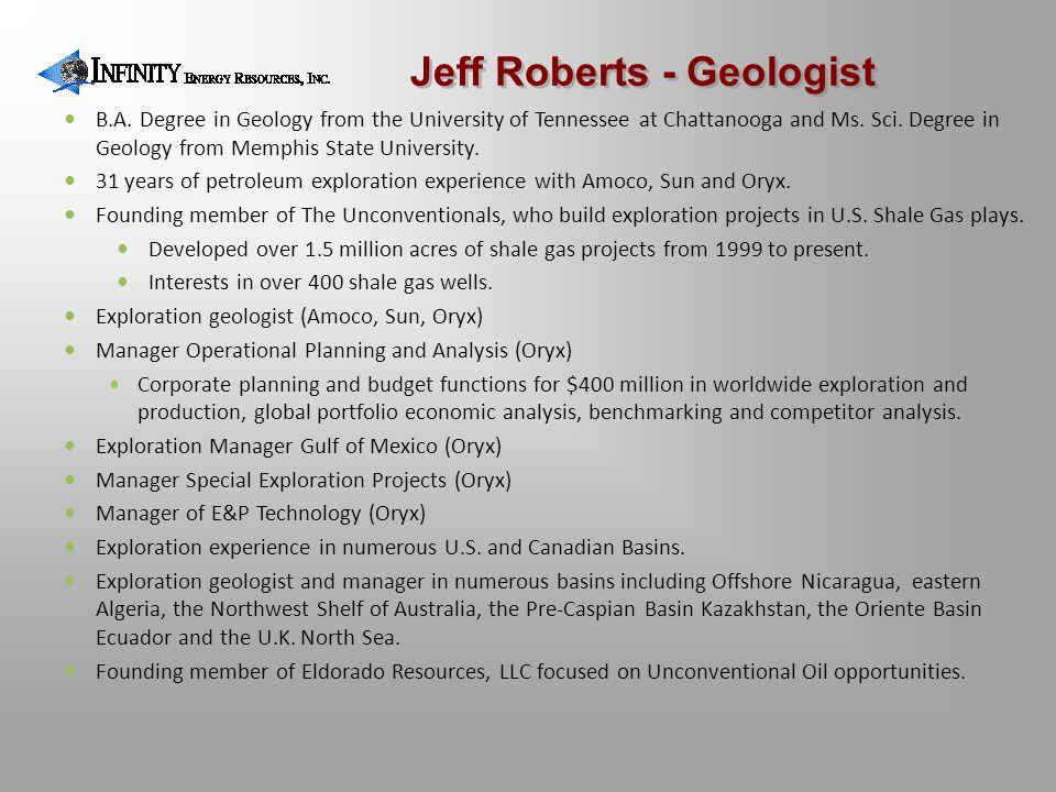 Jeff Roberts - Geologist