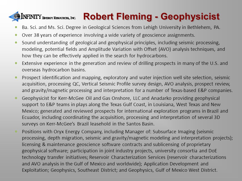 Robert Fleming - Geophysicist