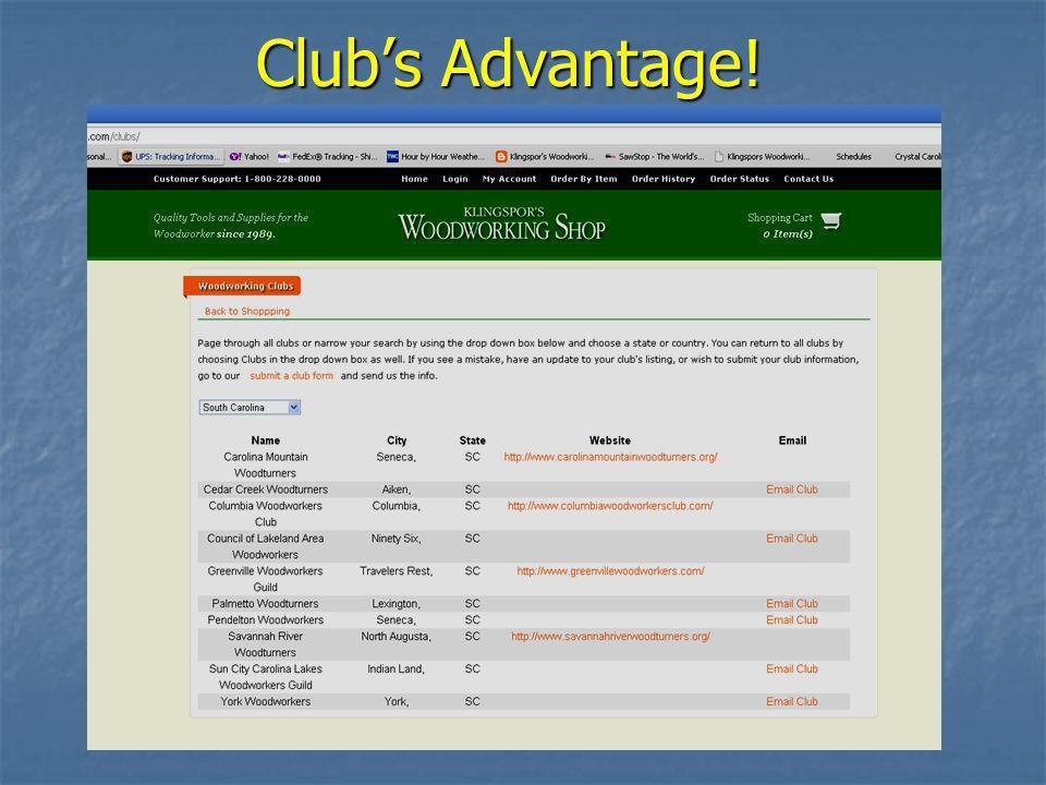 Club's Advantage!