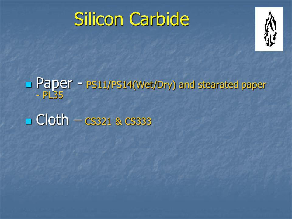 Silicon Carbide Paper - PS11/PS14(Wet/Dry) and stearated paper - PL35