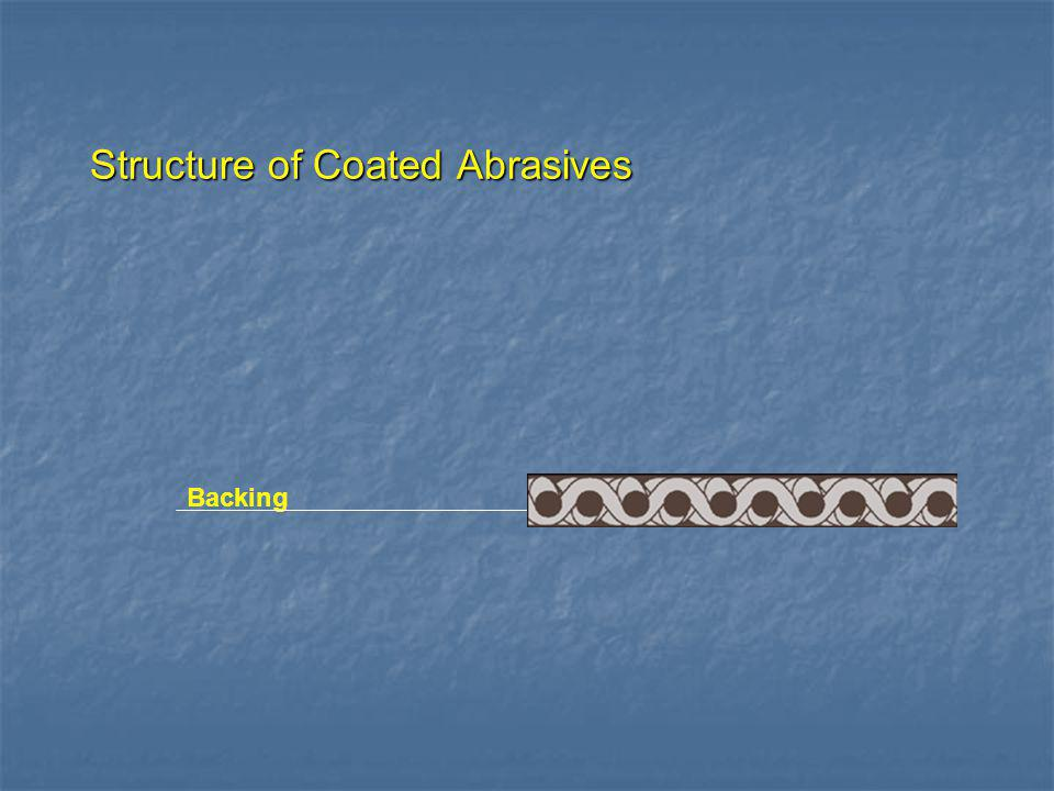 Structure of Coated Abrasives