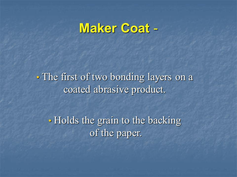 Maker Coat - of the paper.