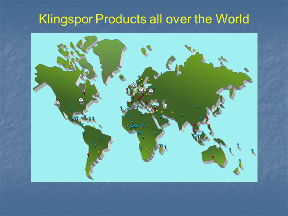 Klingspor Products all over the World