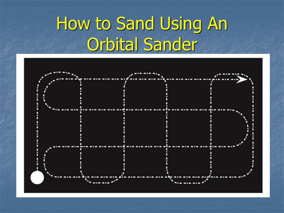 How to Sand Using An Orbital Sander