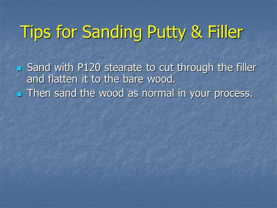 Tips for Sanding Putty & Filler