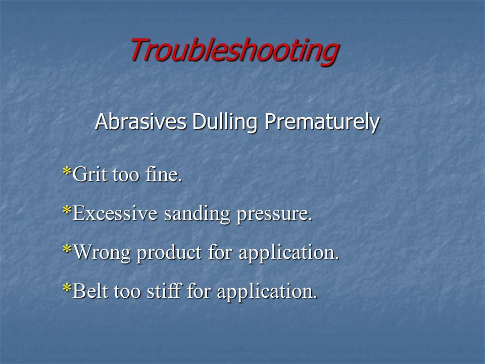 Abrasives Dulling Prematurely