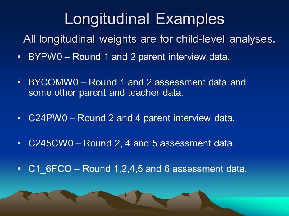 Longitudinal Examples