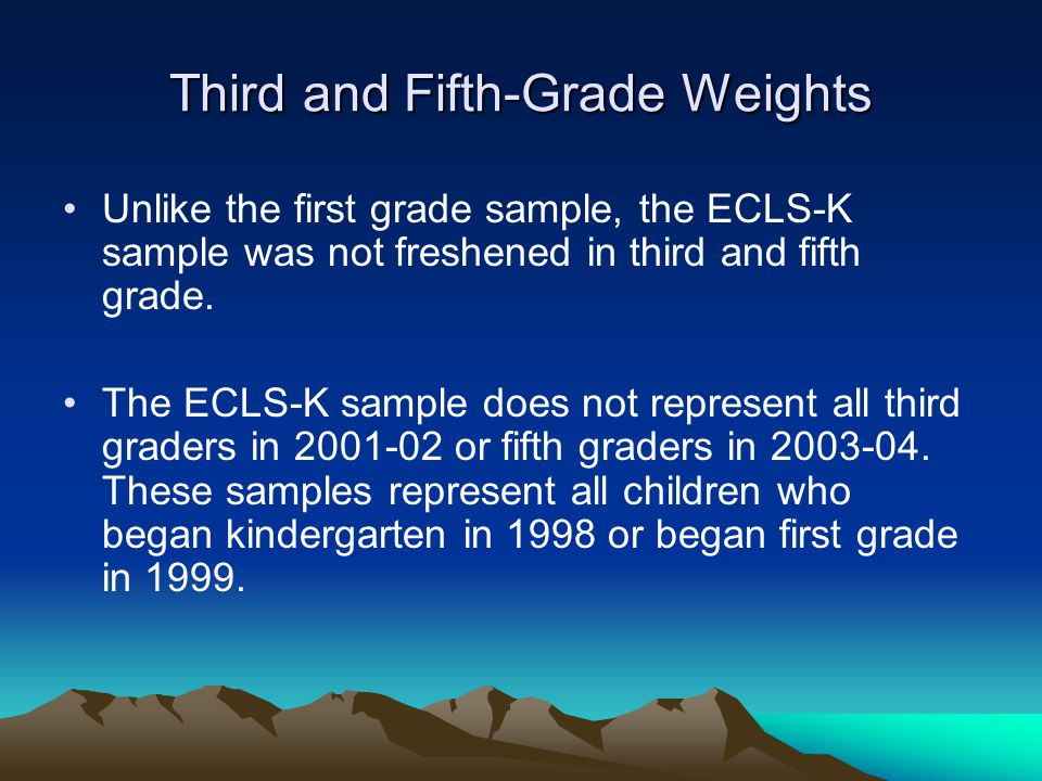 Third and Fifth-Grade Weights