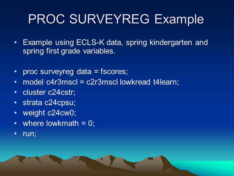 PROC SURVEYREG Example