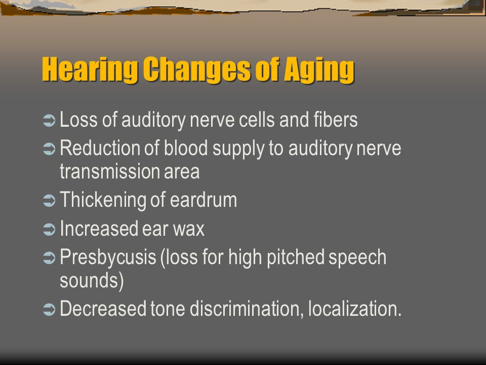 Hearing Changes of Aging