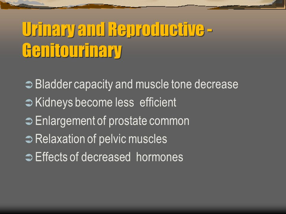 Urinary and Reproductive - Genitourinary
