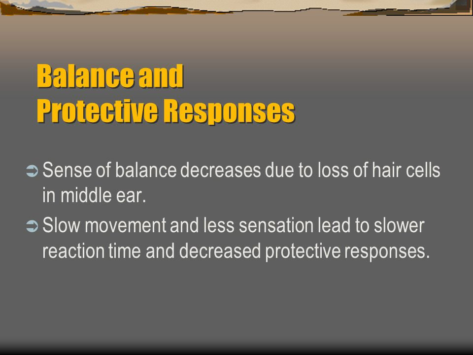 Balance and Protective Responses