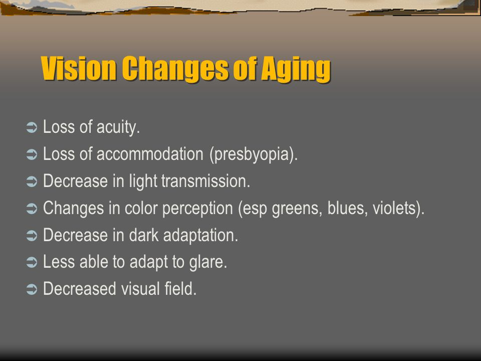 Vision Changes of Aging
