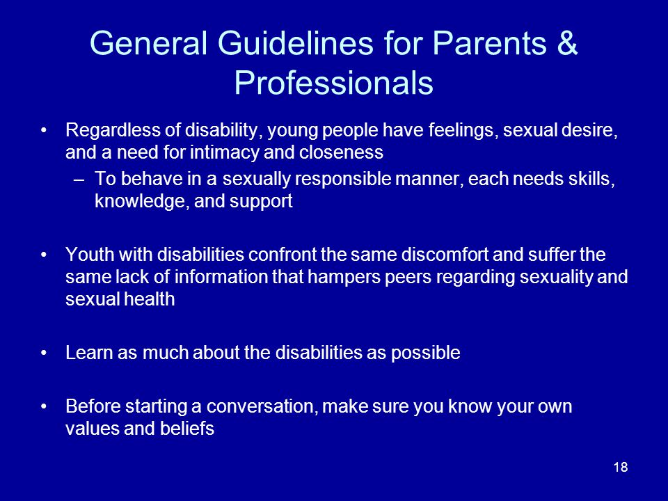 General Guidelines for Parents & Professionals