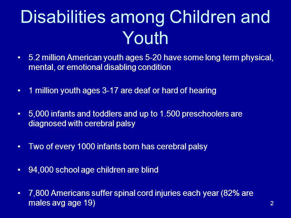 Disabilities among Children and Youth