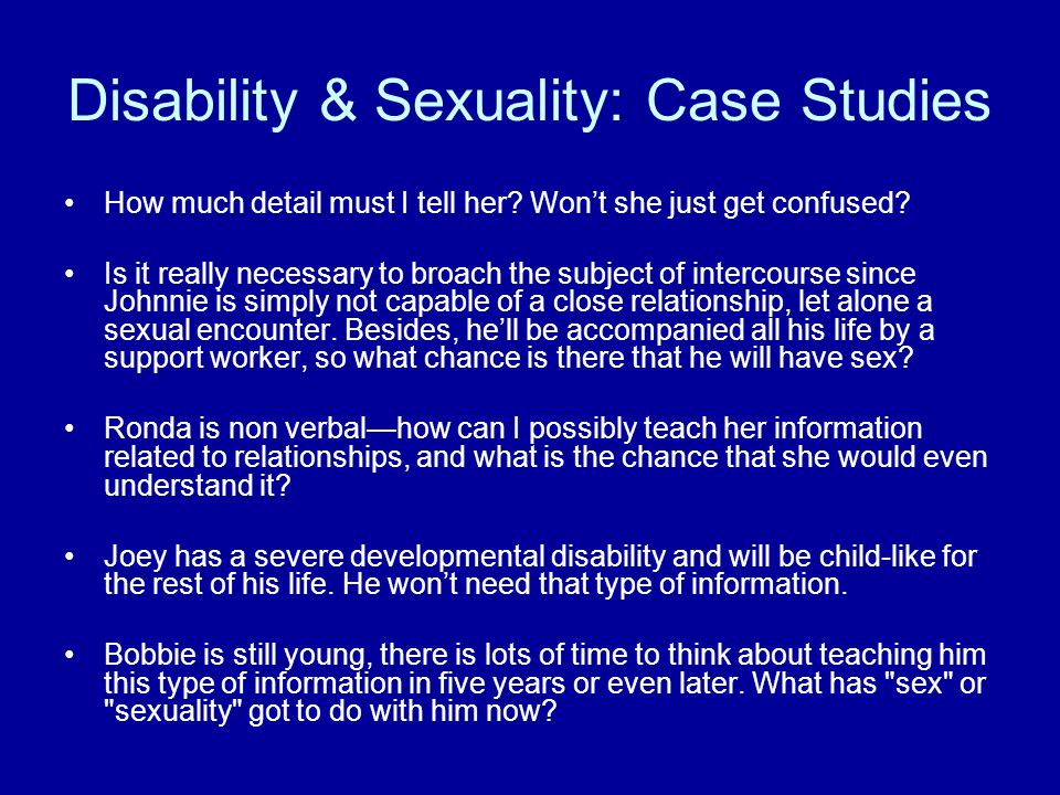 Disability & Sexuality: Case Studies