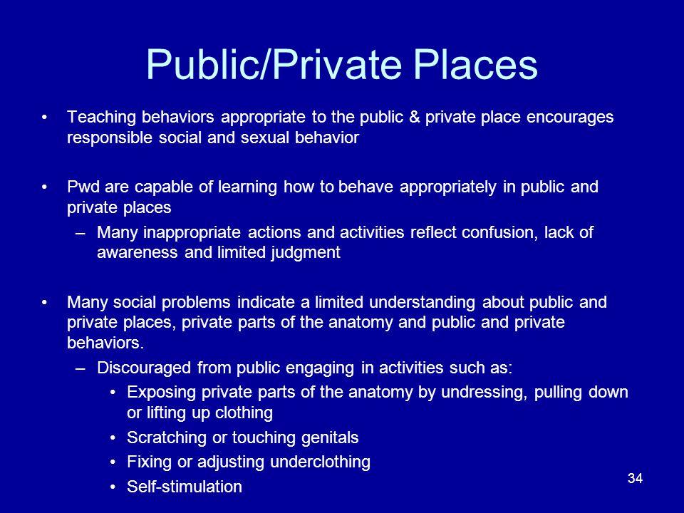 Public/Private Places