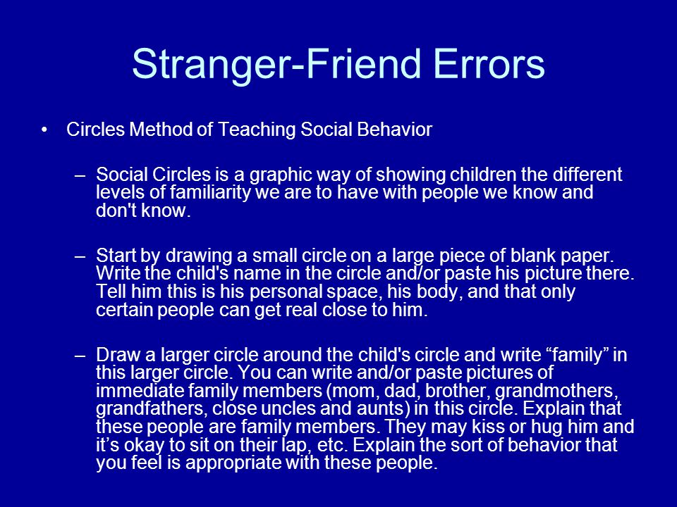 Stranger-Friend Errors