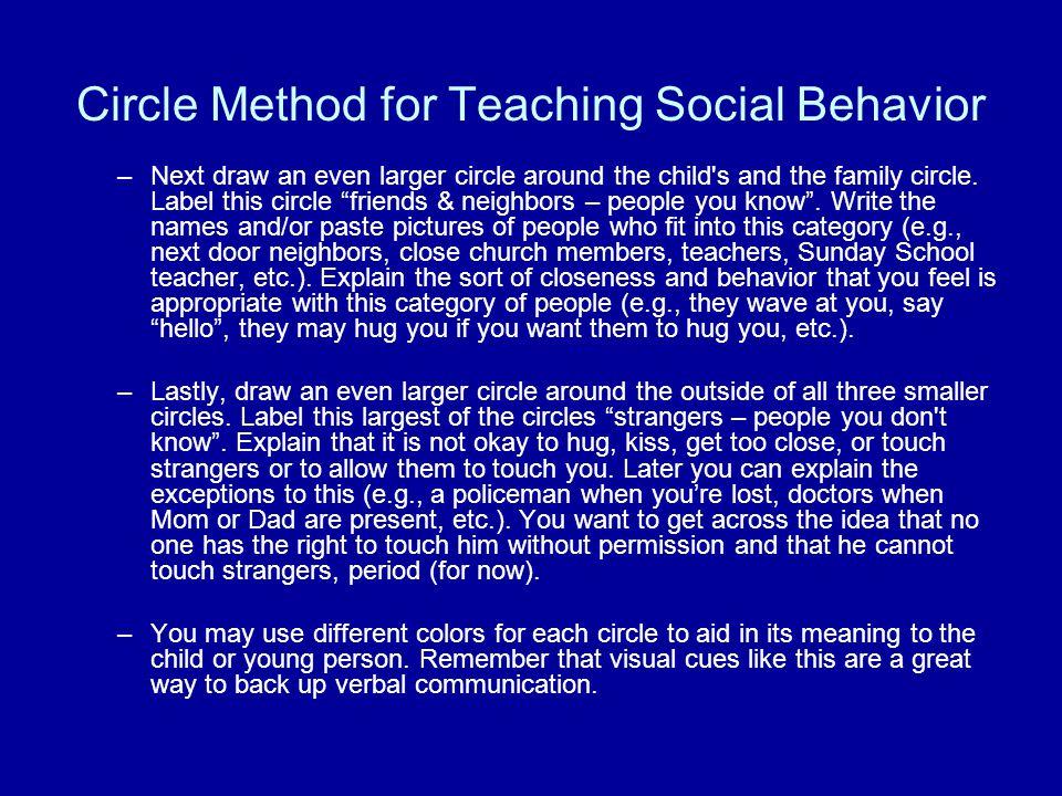 Circle Method for Teaching Social Behavior