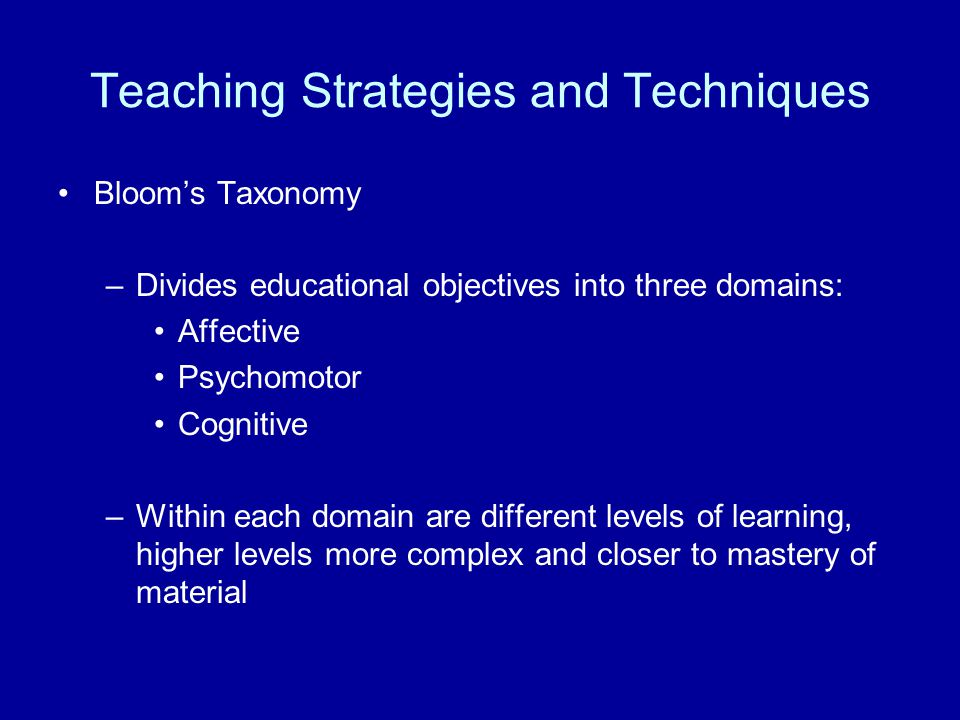 Teaching Strategies and Techniques